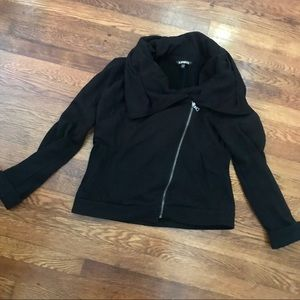 Express black zip jacket